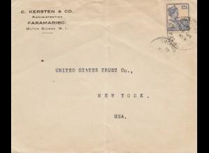 Surinam: Paramaribo 1929 to New York