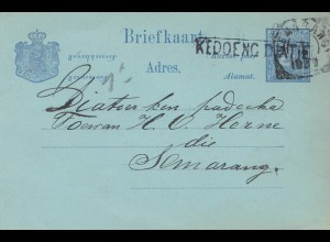 Ned. Indie 1897: post card to Samarang