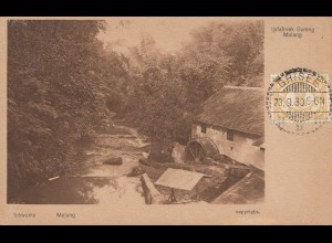 Ned. Indie 1930: post card Grisee/Malang to Offenbach