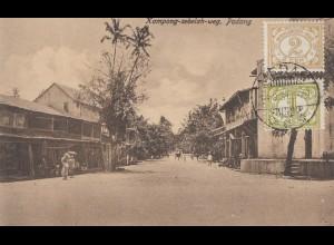 Sumatra 1931 post card Padang to Offenbach