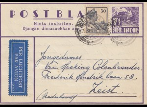 Ned. Indie 1939: air mail to Zeist/Holland
