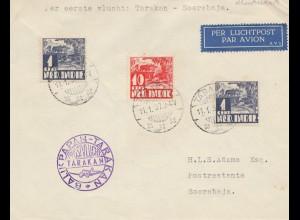 Ned. Indie 1937: air mail first flight Tarakan-Soerabaja