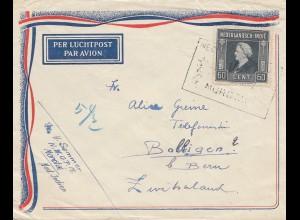 Ned. Indie Morotaj via air mail to Balligen/Switzerland