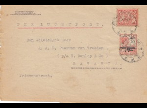 Ned. Indie 1928: per Luchtpost to Batavia, printed matter, Weltevreden