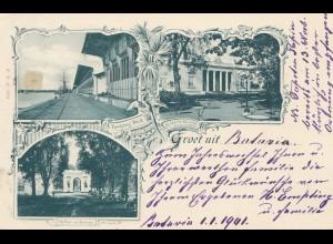 Ned. Indie: 1900: post card Batavia to Düsseldorf