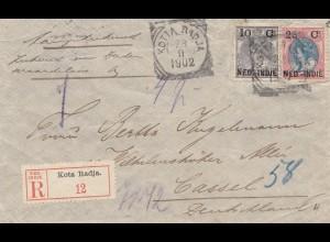Ned. Indie 1902: Registered Kota Radja to Kassel