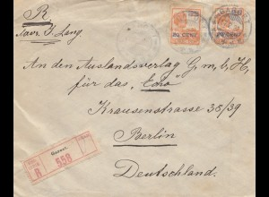 Ned. Indie 1922: registered Garoet to Berlin