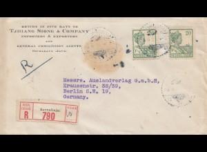 Ned. Indie 1921: registered Soerabaja to Berlin