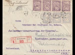 Ned. Indie 1930: Registered Soekaboemi to Berlin