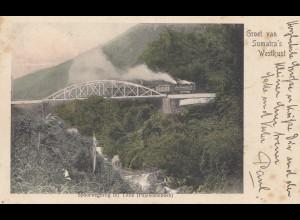 Ned. Indie 1908: post card Sumatra's Westkust to Berlin