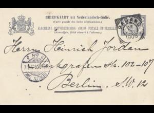 Ned. Indie 1906: post card Padang to Berlin