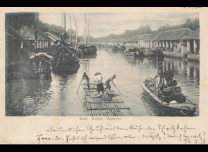 Ned. Indie 1900: post card Batavia to Gera/Germany