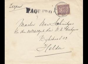Surinam 1929: Paquebot to Helder/Holland