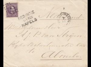 Ned. Indie 1911 Weltevreden via Naplels to Almelo