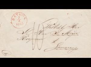 Ned. Indie 1865: Batavia to Samarang