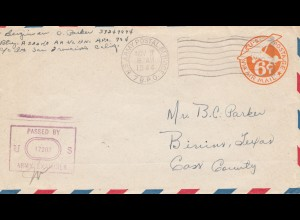 New Guinea 1944: US Army Postal Service, censor to Cass County
