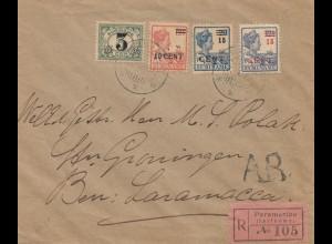 Surinam 1927: Paramaribo registered to Saramacca