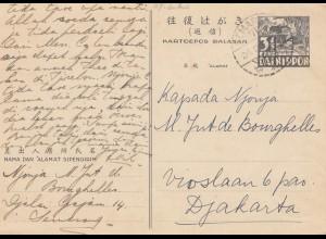 Dainippon post card 1903 Semarang to Djakarta