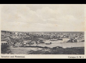 Curacao 1932: post card Scharloo and Pietermaai to Haarlem