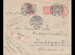 Ned. Indie 1944: registered Minggiran to Stuttgart