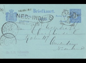 Ned. Indie 1902: post card Padang to Amsterdam