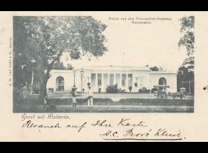 Ned. Antillen 1899: post card Batavia to Forchheim/Germany