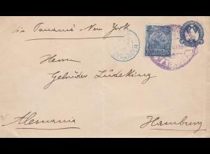 Nicaragua: 1895: Managua to Hamburg