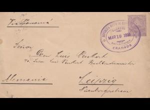 Nicaragua: 1898: Granada to Leipzig via Panama