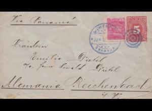 Nicaragua 1896: Granada to Reichenbach/Germany