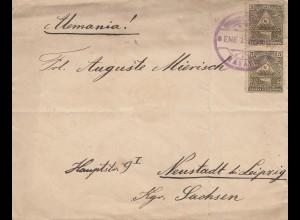 Nicaragua 1898: cover to Neustadt/Leipzig