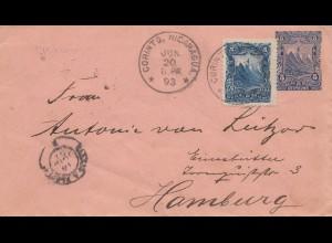Nicaragua 1893: Corint to Hamburg