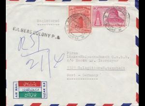 Pakistan: 1930 air mail Lahore to Salzgitter-Watenastedt