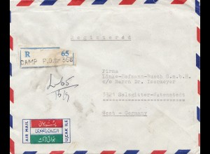 Pakistan: 1933 Lahore, registered to Salzgitter Watenstedt