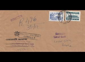 Pakistan: 1985: Registered Comilla to Daka