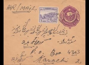 Pakistan: air mail to Karachi