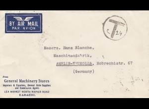 Pakistan 1950: Karachi to Berlin, Taxe
