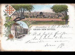 Palestine: 1897: post card Jerusalam to Grundwald/Berlin