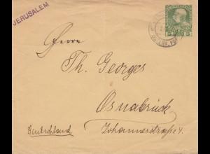 Palestine: 1910: Jerusalem Österreichische Post to Osnabrück