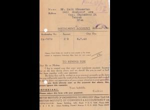 Palestine: 7.1945: Jerusalem Instalment Account Teheran