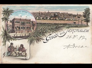 Palestine: 1897: post card Jerusalem to Charlottenburg