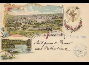 Palestine: 1898: Nazareth to Leipzig