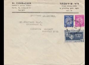 Palestine: 1949 Haifa to Chemnitz
