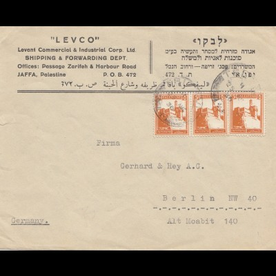 Palestine: 1930: letter from Jaffa to Berlin
