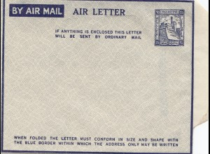 Palestine air mail cover, unused, Tel Aviv