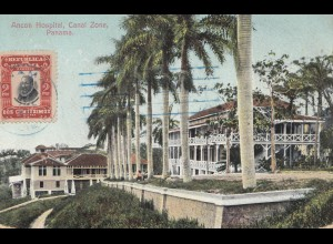 Panama post card Ancon Hospital to Berlin
