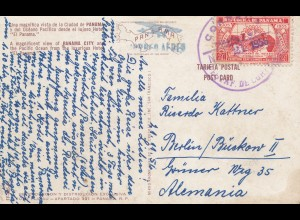 Panama 1956: post card Panama City to Berlin