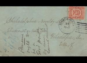 Panama 1910: letter to Philadelphia