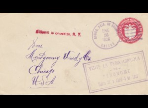 Panama 1928: Chitre to Chicago via Penonome, Missent
