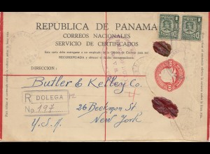 Panama 1935: Registered Dolega to New York