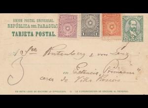 Paraguay 1915: post card to Estancia Primavera